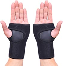 HEIRBLS Wrist Brace, Wrist Support Removable Wrist Hand Splint Support Training Protector, Cushioned to Help with Carpal Tunnel and Relieve and Treat Wrist Pain (Pair)