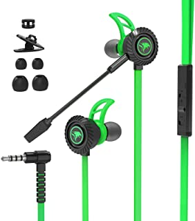BlueFire in Ear Headphones with Mic, 3.5mm Jack Wired Headphones, Noise Cancelling Stereo Bass Gaming Earbuds, Gaming Earp...