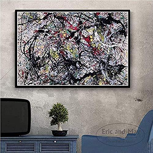 Rompecabezas Abstractos Jackson Pollock Jigsaw Puzzle 1000 Piezas, Juguetes Intelectuales Rompecabezas De Madera, Regalo Educativo para Niños 50X75Cm