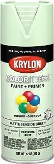 Krylon K05552007 COLORmaxx Spray Paint, Aerosol, Seaside Green