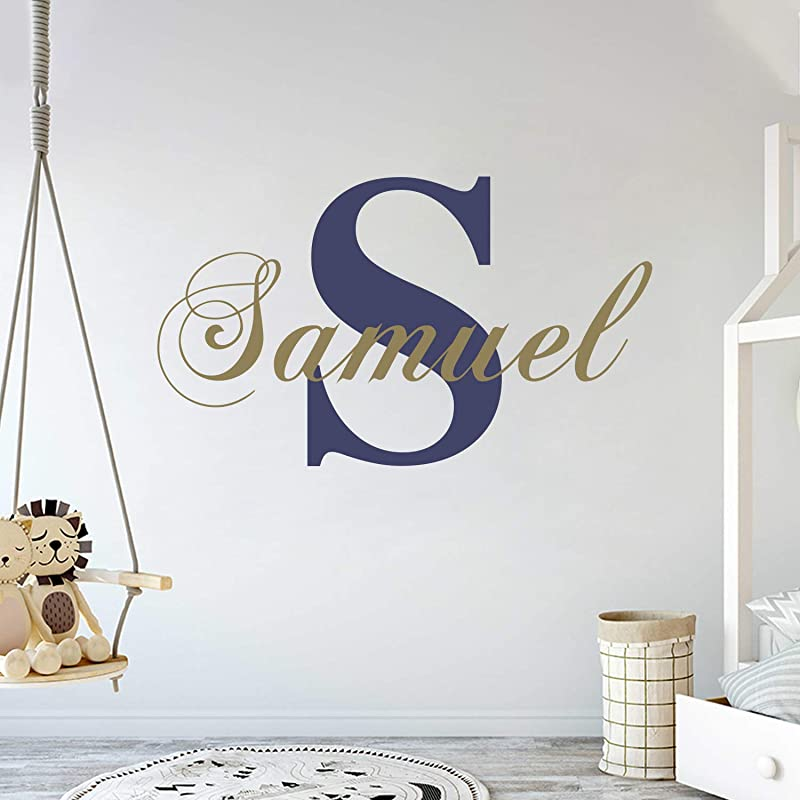 Personalized Name Initial Classic Edition Prime Series Baby Girl Nursery Wall Decal For Baby Room Decorations Mural Wall Decal Sticker For Home Children S Bedroom MM39 Wide 22 X11 Height