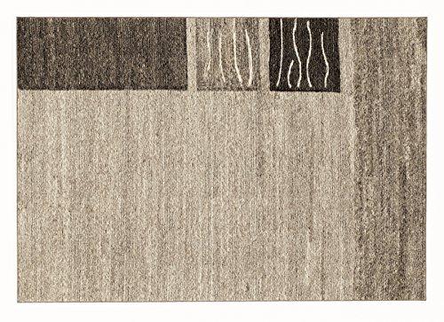 ORGANICAL CHEVRON moderner Woll Teppich Wollsiegel in natur, Größe: 140x200 cm