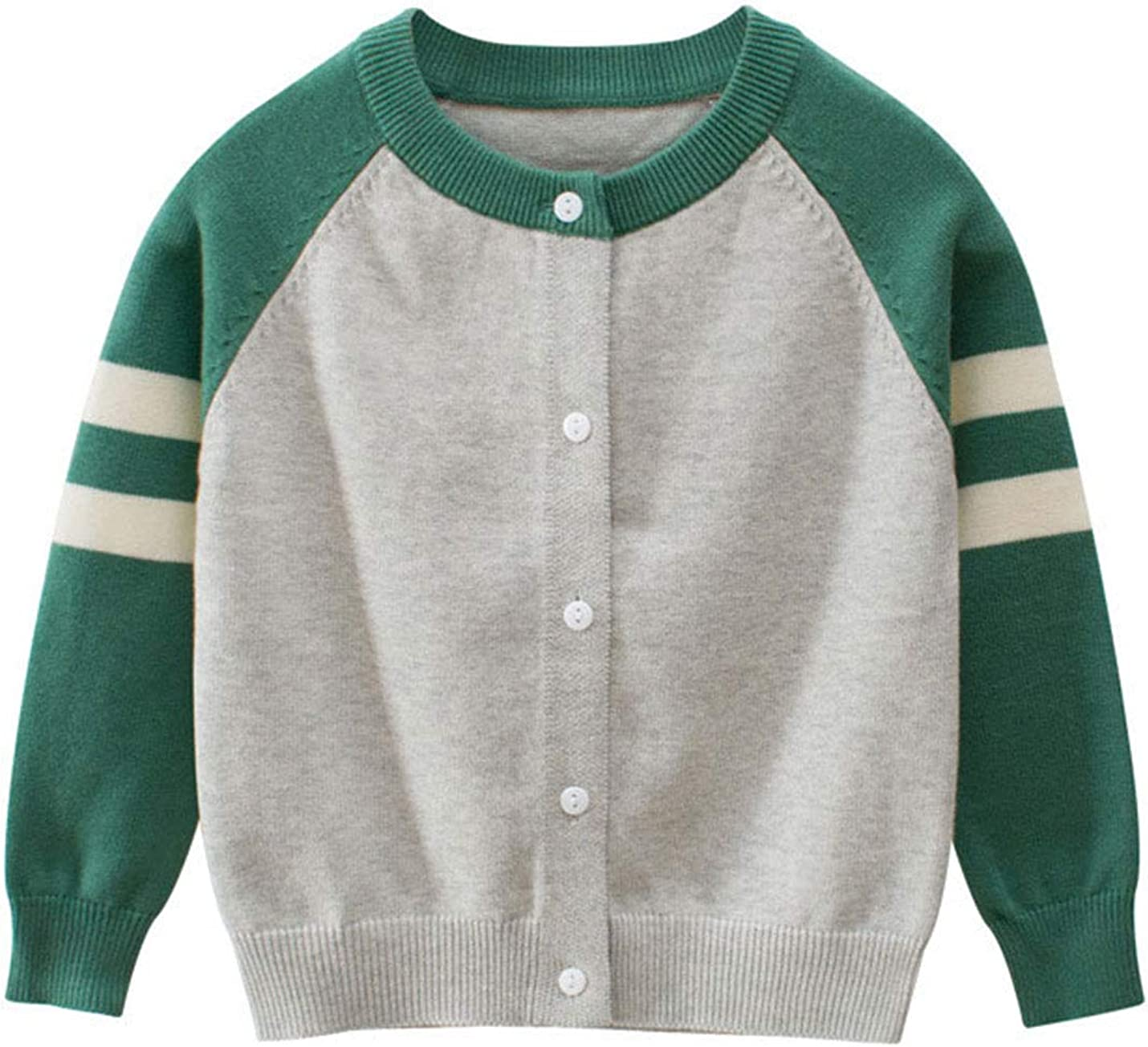 AMEBELLE Boys' Girls Unisex Kids Knit Cardigan Sweaters Baby Boys Girls Cotton Basic Sweater 2-8T