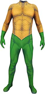 Arthur Curry Cosplay Costume 3D Lycra Zentai Justice League Movie Superhero Halloween Costumes for Adults Kids