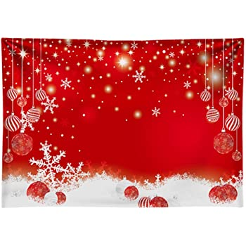 New Red and Gold Dots Christmas Backdrop for Photography 7x5 Vinyl Bokeh Photo Background Newborn Christmas Light Spot Studio Backdrops for Kids Portrait Picture Photoshoot
