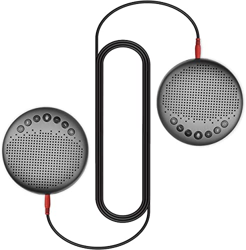 wholesale Luna Speakerphone+Daisy Chain Cable - Luna Computer Speaker with Microphone 2pcs w/Cable, Conference Microphone for Home Office & 2021 Meeting up to 12 People, Speakerphone Idea new arrival for Business Gift sale