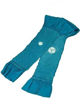 [ 京都きもの町 ] 正絹 絞り帯揚げ ブルー