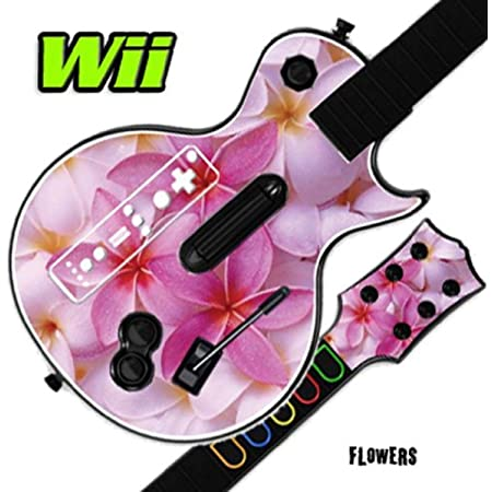 Mightyskins Skin Decal Skin Compatible with Guitar Hero 3 III Nintendo Wii Les Paul - Flowers