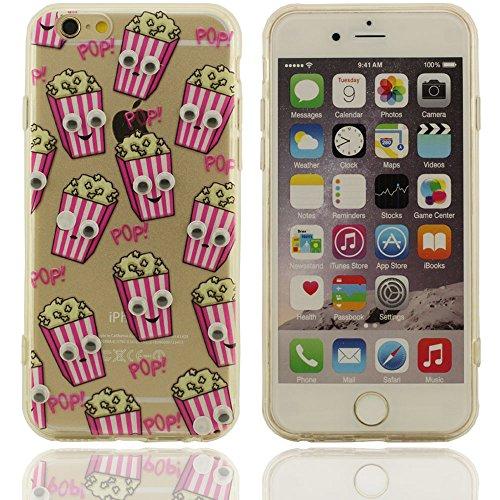 Varios patrón de colores de Palomitas plástico duro caso de la cubierta Carcasa protectora case para Apple iPhone 6S / 6 4.7 inch (rosa) - (iPhone 6 plus no ajuste)