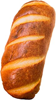 elfishgo 3D Simulation Bread Shape Pillow,Soft Butter Bread Food Plush Cushion Stuffed Toy for Home Decor 23.6