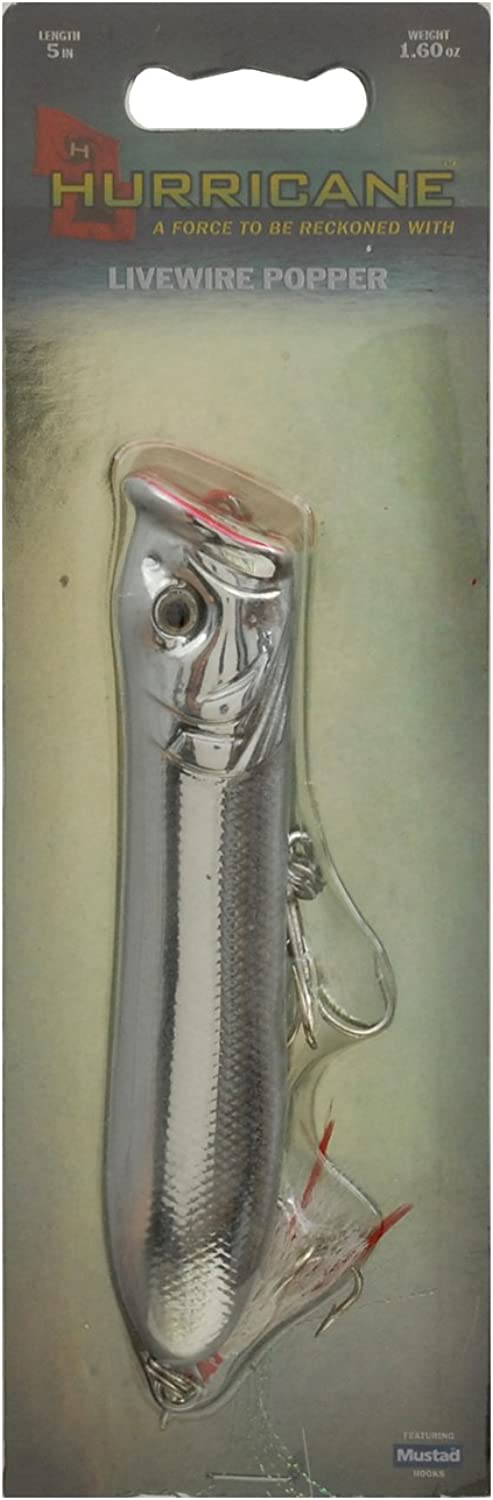 Hurricane Livewire Poppers, 5Inch, White Silver