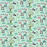 Fabulous Fabrics Jersey mintgrün, Tier, 165cm breit –