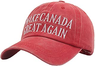 Embroidery Dad Hats Make Canada Great Again Baseball Trucker Cap Adults Red