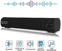 Sound Bar Bluetooth Wired and Wireless Mini Soundbar Surround Sound Home Theater Built-in..