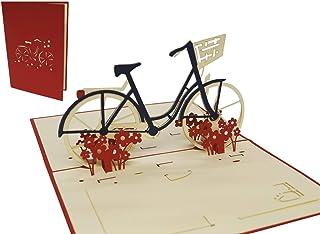 LIN-POP UP 3D Grußkarten Fahrrad, Glückwunschskarten Gutsc