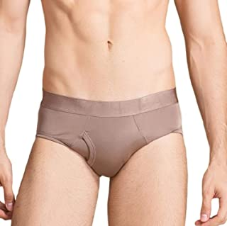 MESHIKAIER 100% Mulberry Silk Men Briefs Elastic Underwear Underpants Breathable and Comfortable