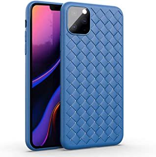 Moko iPhone 11 Pro Max Case, Flexible TPU Grid Blue