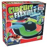 Venteo Circuit Flexible et Lumineux 220 pcs – Le Circuit de Voitures Dont Les Rails Se tordent à volonté et s'illuminent