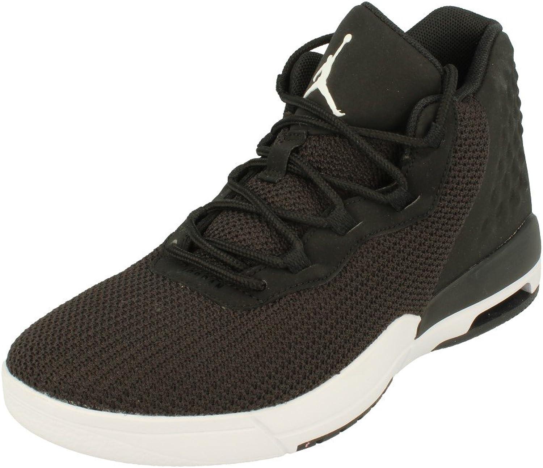 Nike Air Jordan Academy BG Hi Top Basketball Trainers 844520 Sneakers shoes (UK 4.5 us 5Y EU 37.5, Black White Black 002)