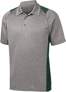 DRI-Equip Moisture Wicking 2-Color Athletic Polos in 13 Colors. XS-4XL