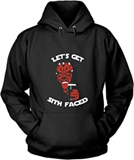 NEBNECK Let's Get Sith Faced T Shirt, Darth Maul T Shirt - Hoodie