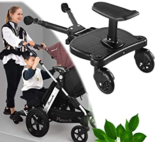 Universal Pushchair Foot Stool, Buggy Board, Jogger Travel Pram Pushchair Buggy Board Seat Connectors Seat, Stroller Acces...