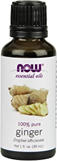 Now Essential Oils, Ginger Oil, Spicy Aromatherapy Scent, Steam Distilled, 100% Pure, Vegan, 1-Ounce