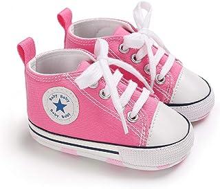 DEBAIJIA Bébé Espadrille Chaussures Premier Pas Enfants Soulier Toile Garçons 0-18M Semelle Souple Antidérapant Légér