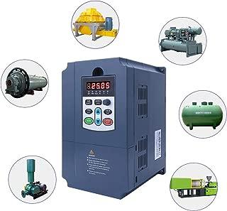 VFD Convertidor inversor de accionamiento de motor 4KW 0Hz-3000Hz Entrada monof/ásica 220VAC a salida trif/ásica 0-380VAC Salida Inversor de frecuencia VFD Inversor de frecuencia variable