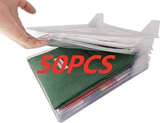 Nifogo Organiseur de placards et Chemise fichier Taille Standard, Dossier et Chemise de t-Shirt de Taille Normale (50Pack)