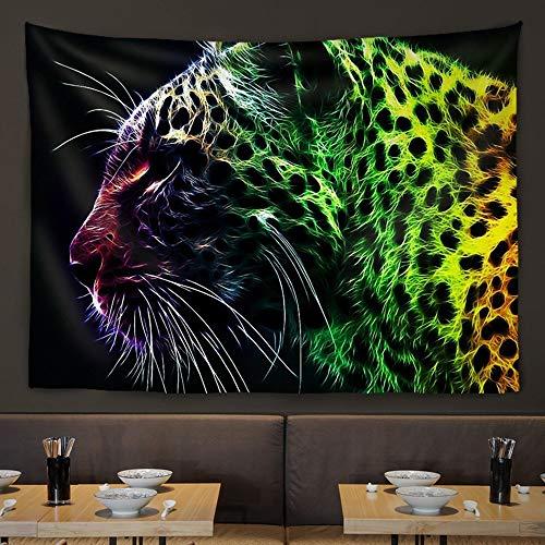DC Wesley Wandbehang Wohnzimmerwand Tierbehang Stoffwand Bar Restaurant Teestube Hintergrund Dekorative Malerei Hängen (Color : Leopard)