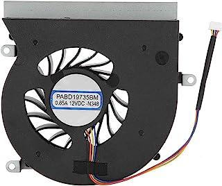 ASHATA Ventilador de Refrigeración 4 Pines para CPU de Computadora Compatible con MS-16L1/MS-16L2/serie MSI GT62VR/MSI GT6...