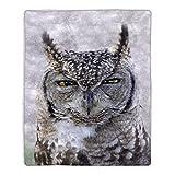 Lavish Home Sherpa Fleece Throw-Owl Pattern Print