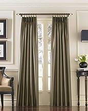 "Curtainworks Marquee Faux Silk Pinch Pleat Curtain Panel, 30 by 95"", Bronze,1Q80000ABZ"