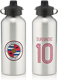 Official Personalized Queens Park Rangers FC Retro Shirt Water Bottle with Spring Hook (600ml) - Silver/White (Free Personalization)