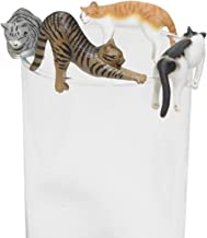 Kitan Club Putitto Sleeping Cat Version 2 Cup Toy - Blind Box Includes 1 of 8 Collectable Figurines - Hangs on Thin, Flat Edges - Authentic Japanese Design