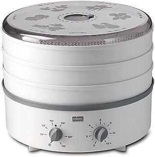 Stöckli Déshydrateur automatique Dörrex avec grille métallique, gris/blanc, extensible