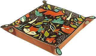 BestIdeas Panier de rangement carré 20,5 × 20,5 cm, avec illustration de renard dessinée à la main, boîte de rangement sur...
