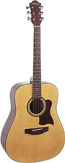 Hohner HW350 Full-Sized Dreadnaught Acoustic Guitar with Hardshell Case