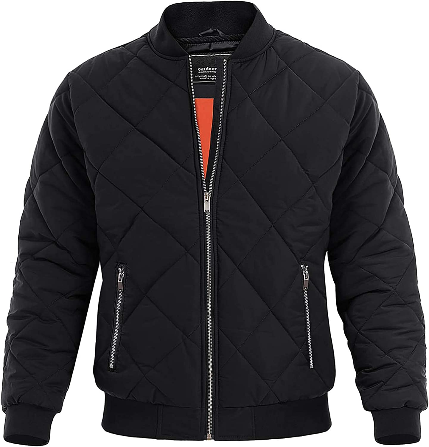 MAGNIVIT Men's Bomber Jacket Winter W Fall Puffer Quilted Factory outlet Max 54% OFF