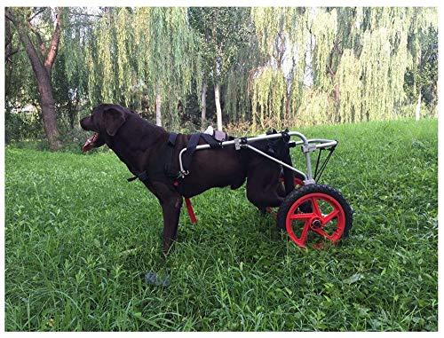 Haustier Rollstuhl,Justierbarer Hunderollstuhl Old Dog Scooter,behinderte Hund Unterstützte Hinterbein-Sportwagen Frei Verstellbare Größe Zusatzhalterung Rollstuhl Gelähmt Hinterbeine Rehabilitation