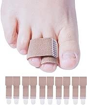Welnove Toe Splints Straightener Toe Tape Bandages 10 Pcs Toe Brace Cushioned Correction for Crooked Hammer Toe Wraps
