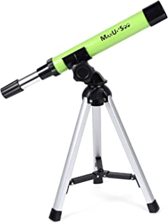 MaxUSee Refractor Telescope for Kids, Portable Telescope with 30X Power for Beginner,..