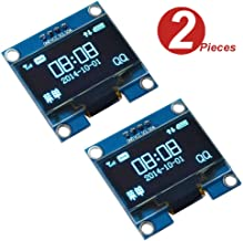 WINGONEER 2Pcs 1.3 Inch IIC I2C Serial 128x64 SSH1106 OLED LCD Display LCD Module for Arduino AVR PIC STM32 - Blue Font