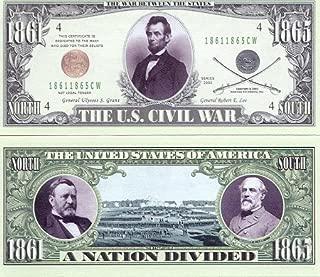 American Art Classics Set of 5 - US Civil War Novelty Money Bill