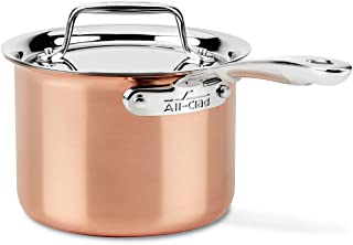 All-Clad C4202 C4 2 Qt. Saucepan with Lid, Cookware, Copper
