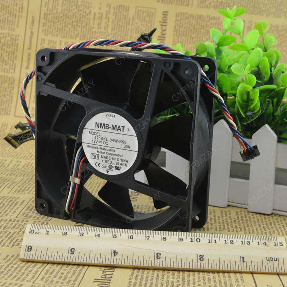 CYRMZAY Compatible para NMB 12V 12cm 4-Cable S7 S9 DELL Y4574 4715KL-04W-B56 Ventilador