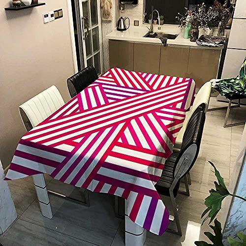 XXDD Mantel Rectangular Rosa con corazón de Amor, Bonito y Encantador, decoración de Matrimonio, Cubierta de Mesa de Comedor, manteles para el hogar, A4 150x210cm