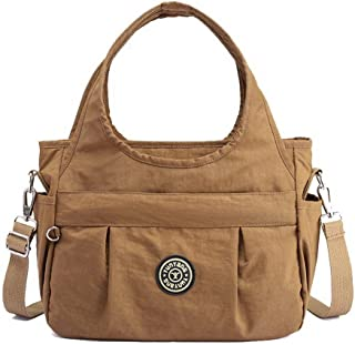VogueZone009 Women's Zippers Nylon Tote Bags Casual Crossbody Bags,CCABO206923