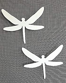 DCentral Two Dragonflies Flexible Screen Magnets Decor  Multipurpose Double-Sided for Non-Retractable Screens Helps to Stop Walking into Screens Size W 6  x L 5